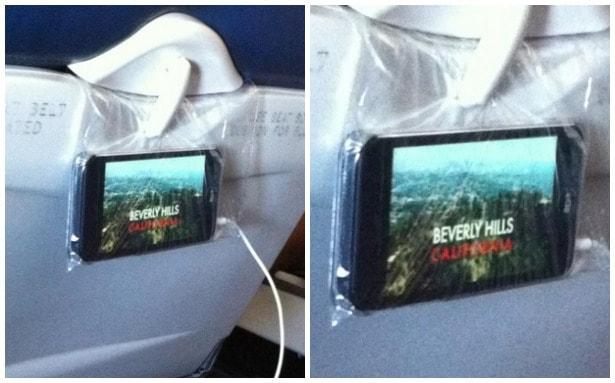 smart phone on plane