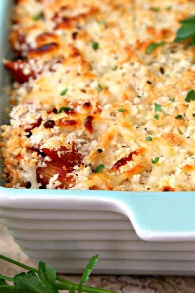 Dump and Bake Chicken Parmesan