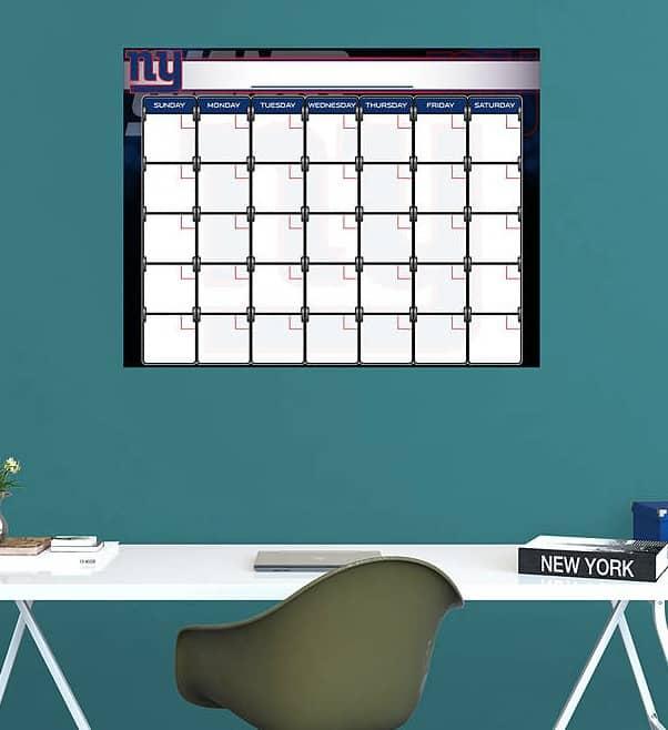 Cool NY Giants Dry Erase Calendar