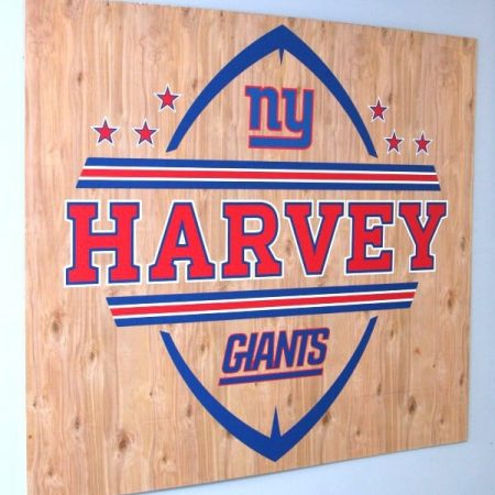 New York Giants Football Sign