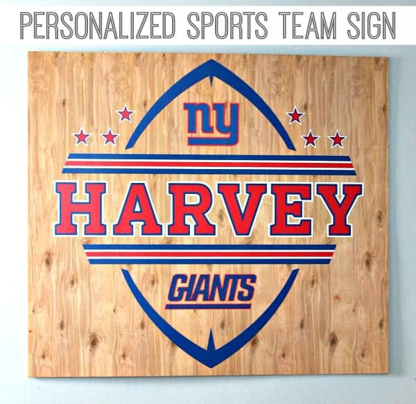 Personalized Sports Team Sign 3