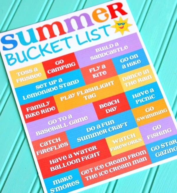 Summer Bucket List 2