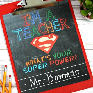 What's Your Super Power? – Teacher Gift & Free Printable