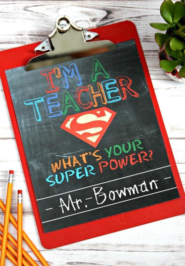Teacher Super Power Free Printable