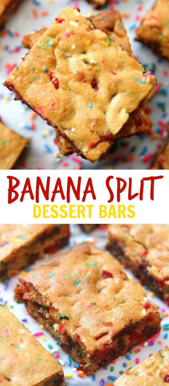 Banana Split Bars