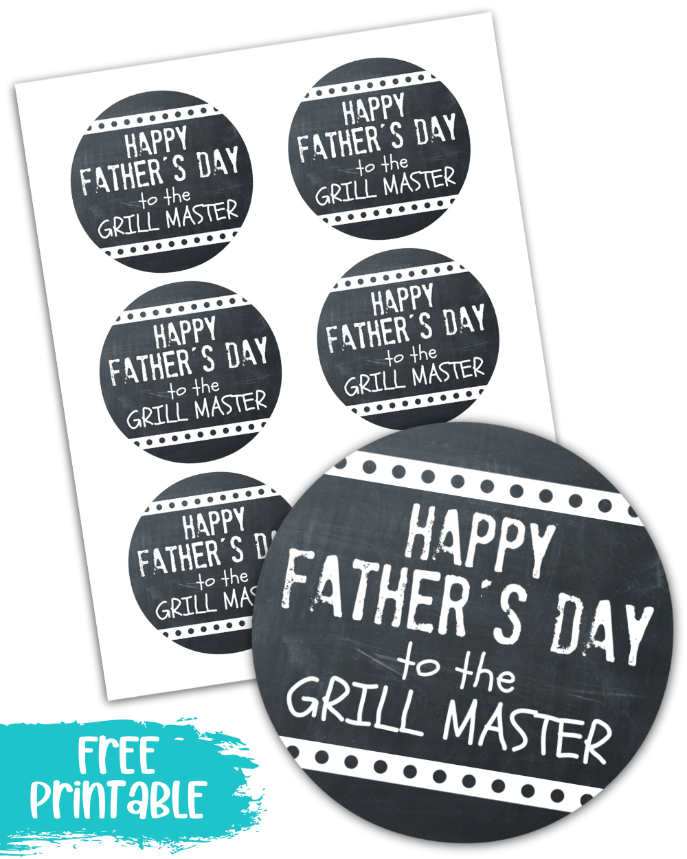 Father's Day Grill Master Labels Free Printable