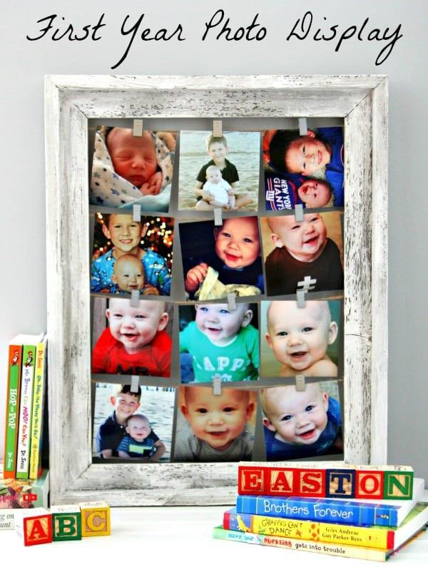 First Year Photo Display