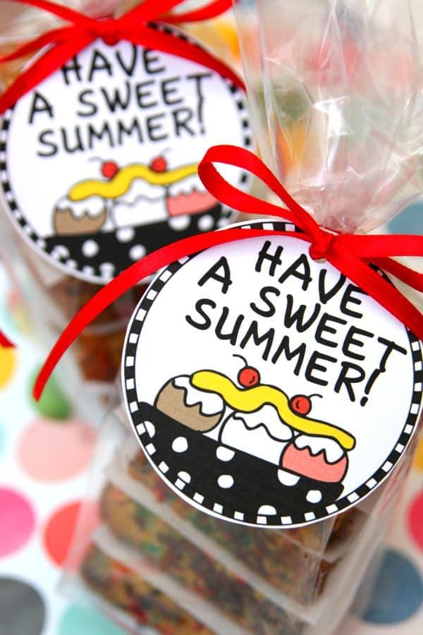 Have a Sweet Summer! Banana Split Bars