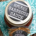 Homemade BBQ Sauce with free labels. Father's Day Gift Idea