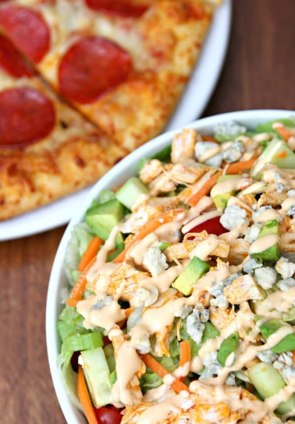 Red Baron Pizza with Buffalo Chicken Salad