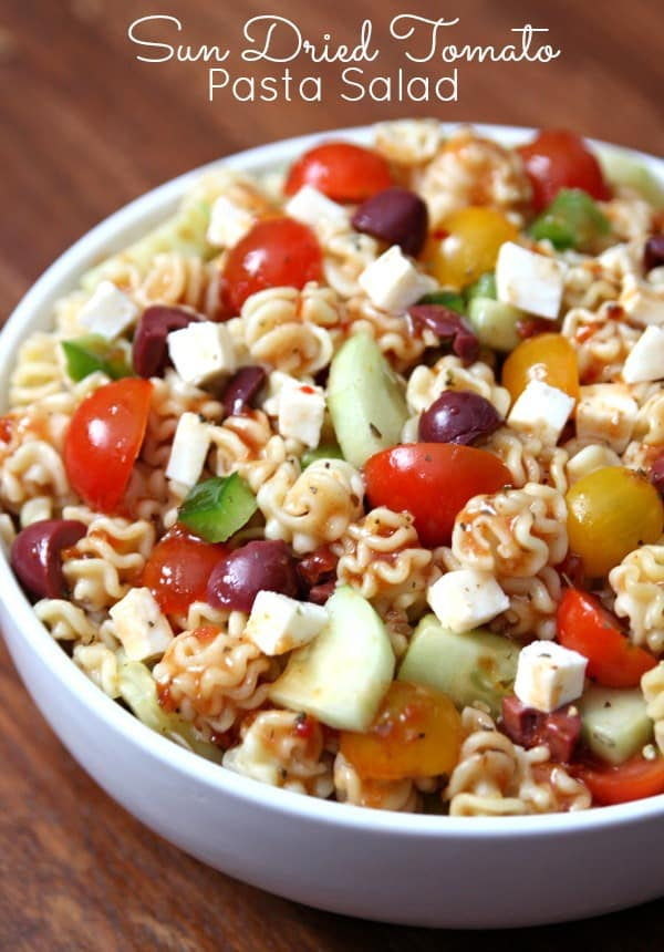pasta salad and this Sun Dried Tomato Pasta Salad is delicious and