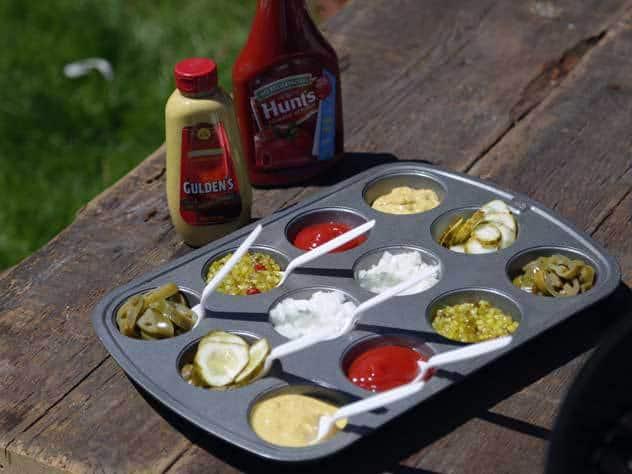 muffin tin condiment tray
