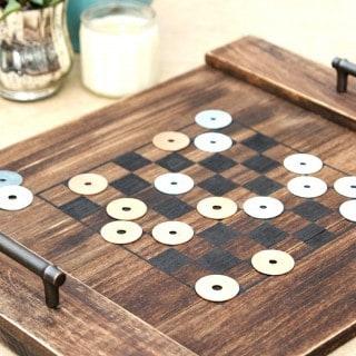 DIY Checkerboard Tray