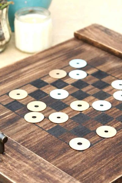 DIY Checkerboard Tray