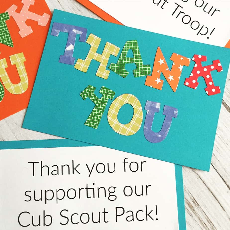 Scout Thank You Notes