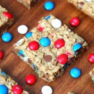 Patriotic Monster Cookie Bars