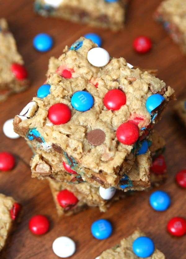 Patriotic Monster Cookie Bars