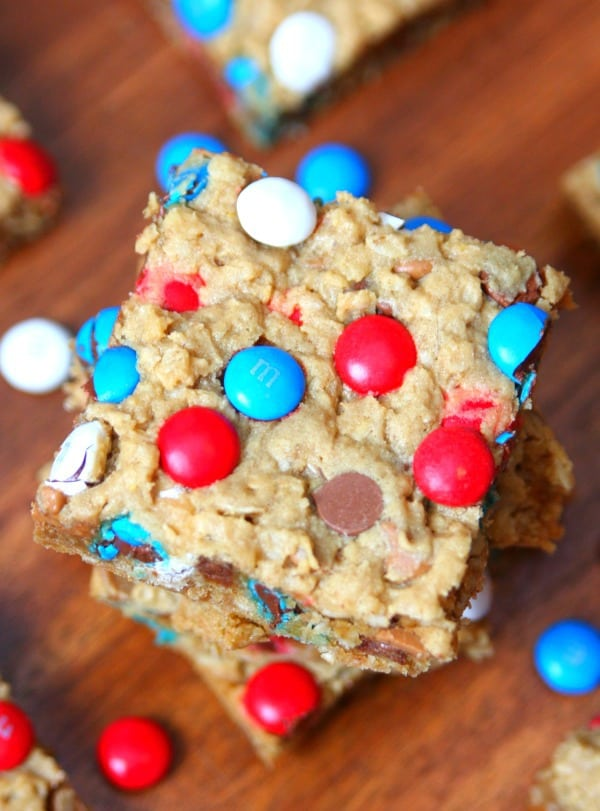 Patriotic Monster Cookie Bars 3