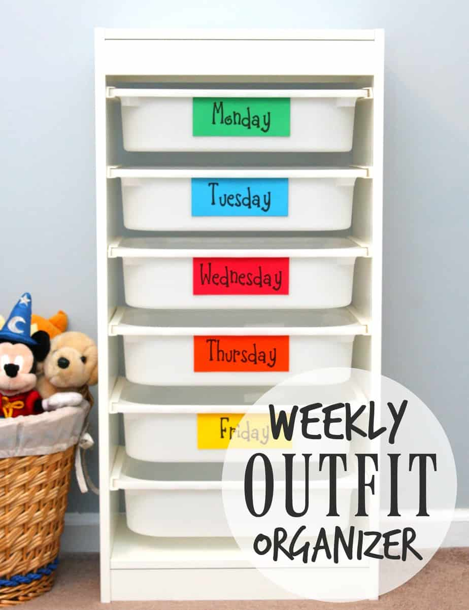 Weekly Outfit Organizer 2