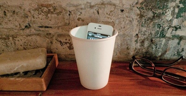 cup cell phone speaker
