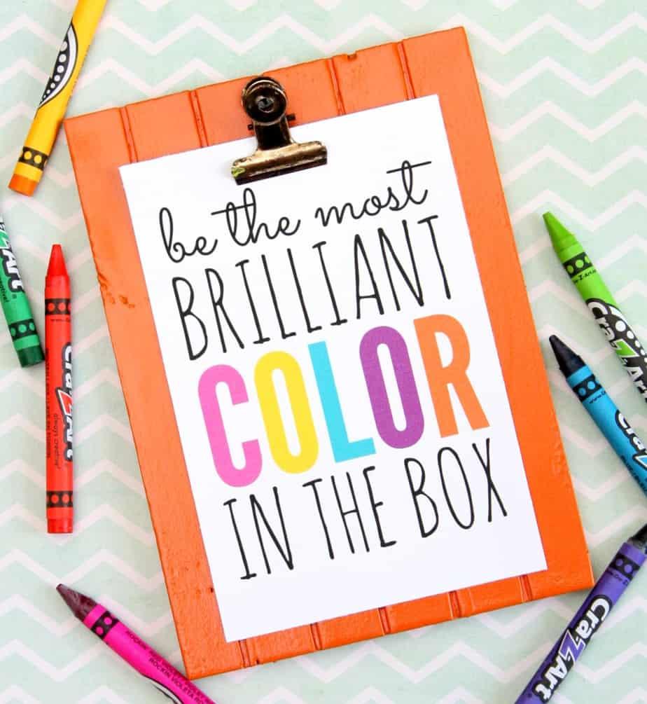 most brilliant color in the box