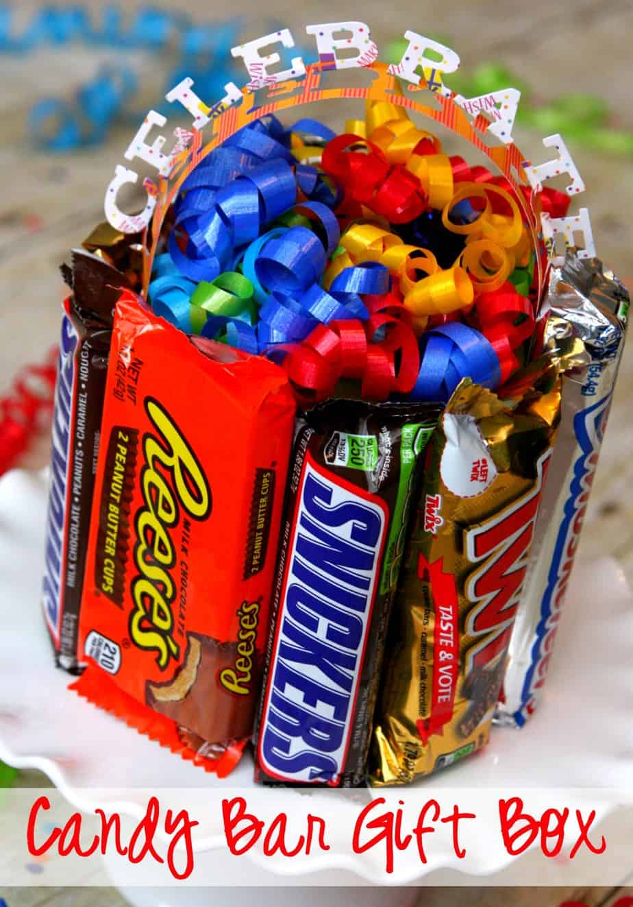 Chocolate Bar Gift Boxes : Easy candy bar gift box awesome idea happy go lucky
