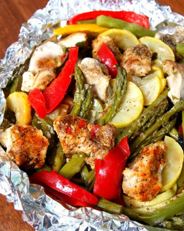 Chicken Vegetable Foil Packets 3