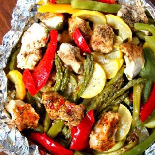 Grilled Chicken and Vegetable Foil Packets