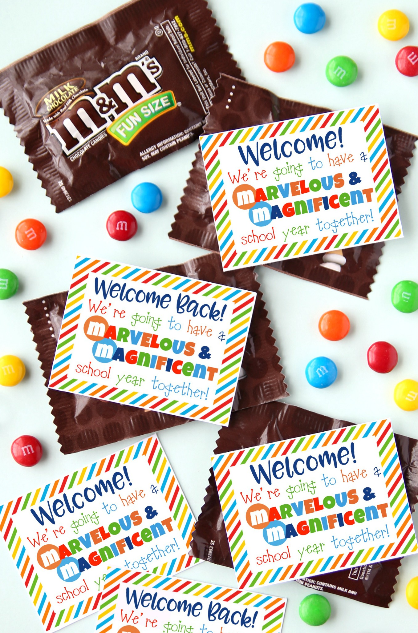 M&M Printable Welcome Student Gift