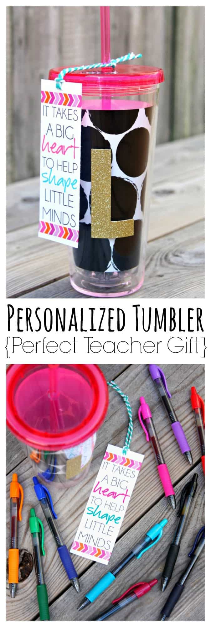 Personalized Tumbler Teacher Gift Collage