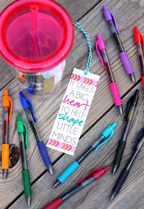 Tumbler and Pens Teacher Gift