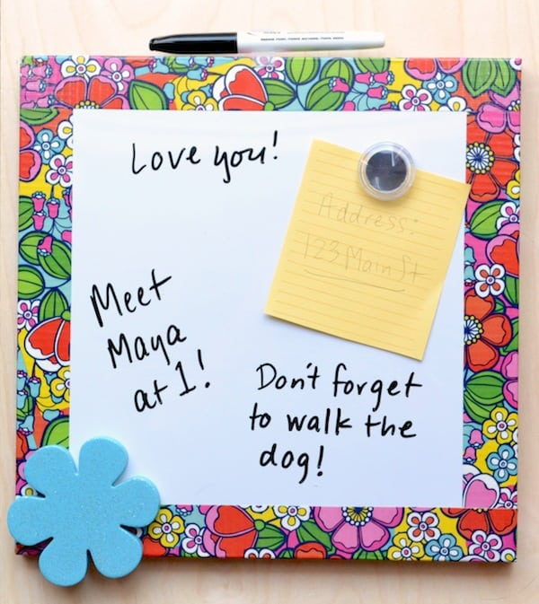 Use-Duck-Tape-to-decorate-a-dry-erase-board-for-back-to-school