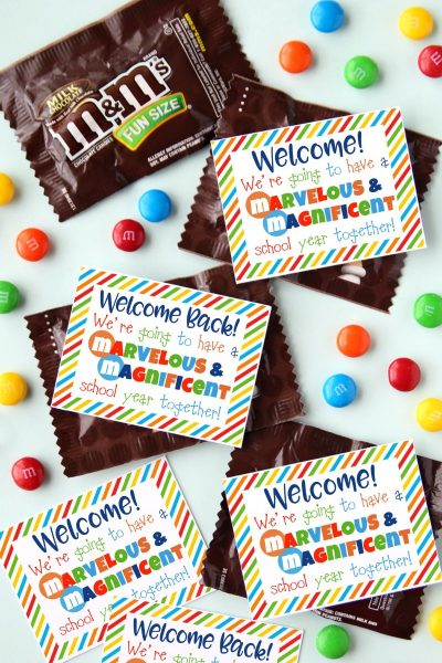 Welcome M&M Printable