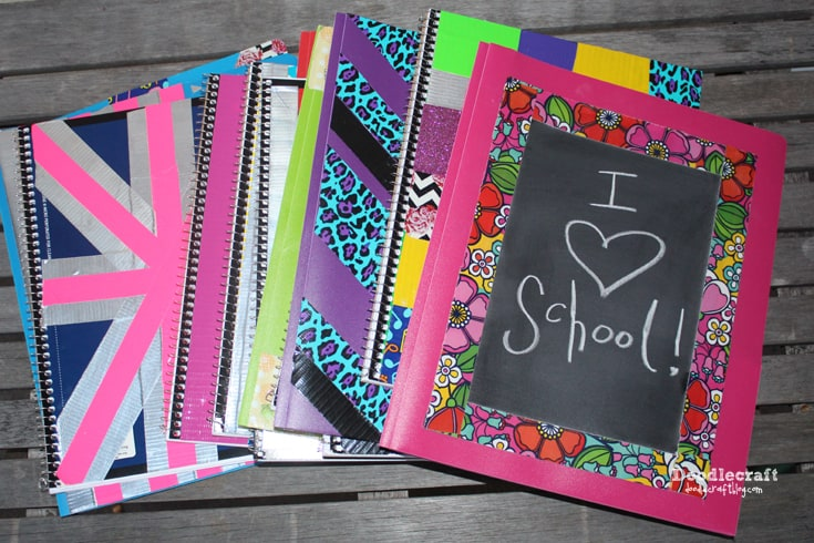 Duct tape makes everything look better happy go lucky for Back to school notebook decoration ideas