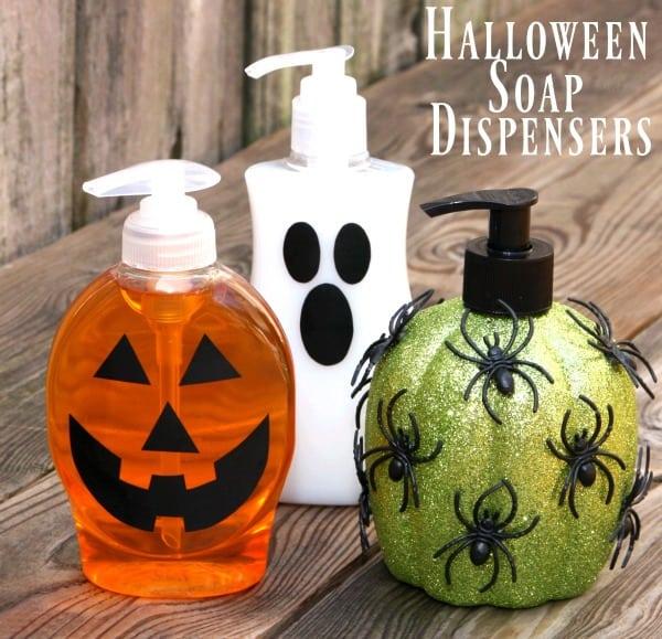 DIY Halloween Soap Dispensers