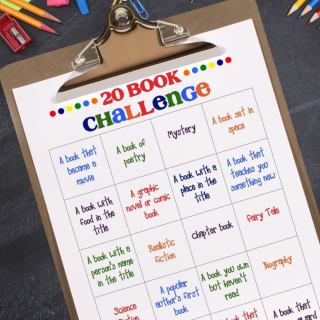 Fall Into Reading – 20 Book Challenge Free Printable