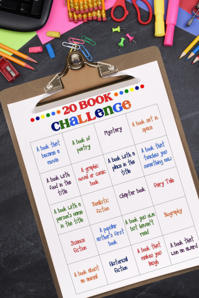 20 Book Challenge Free Printable
