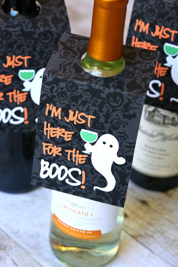 Halloween wine tag