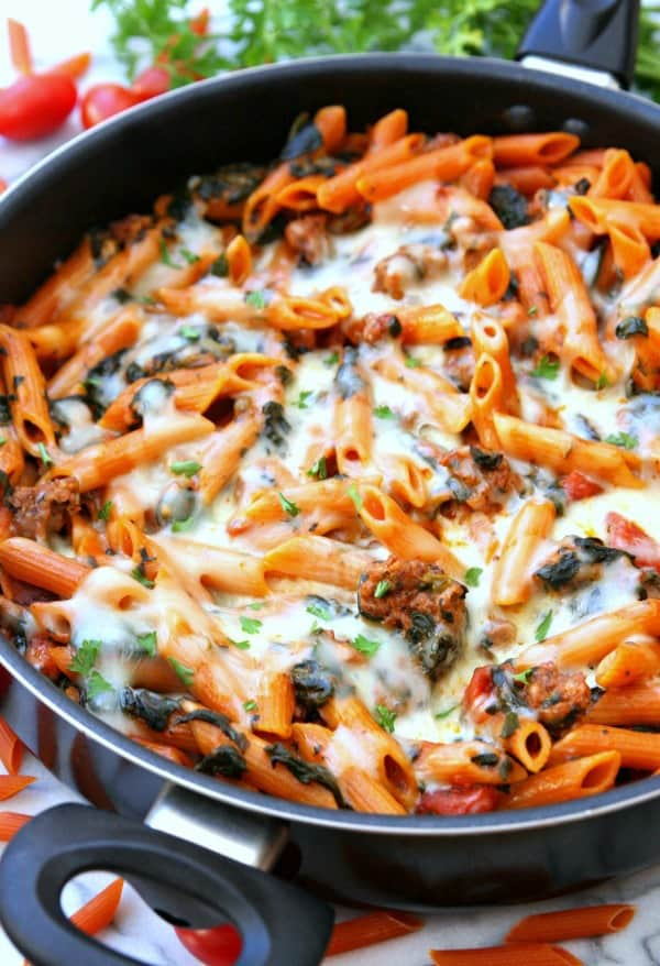 One Pot Baked Ziti
