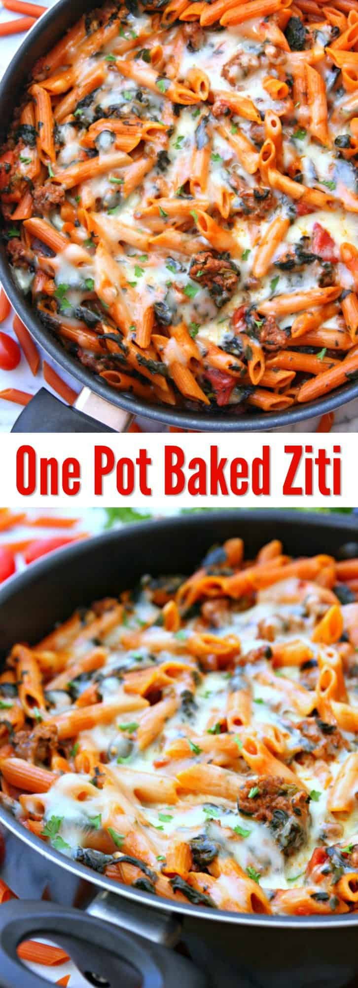 one-pot-baked-ziti-collage