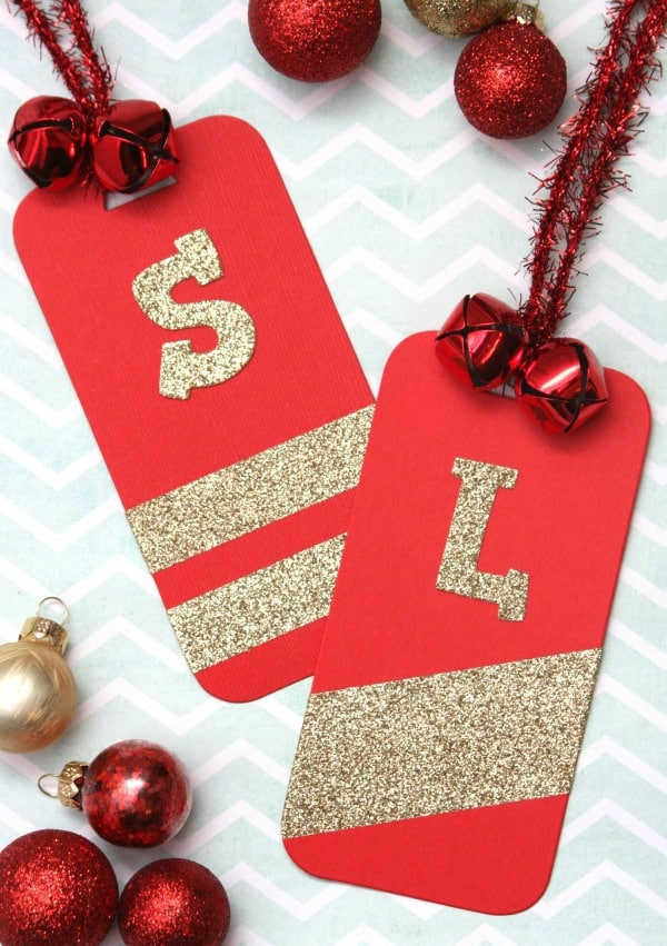 Glitter Personalized Gift Tags