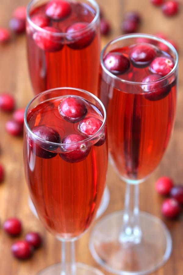 Pear and Cranberry Bellinis
