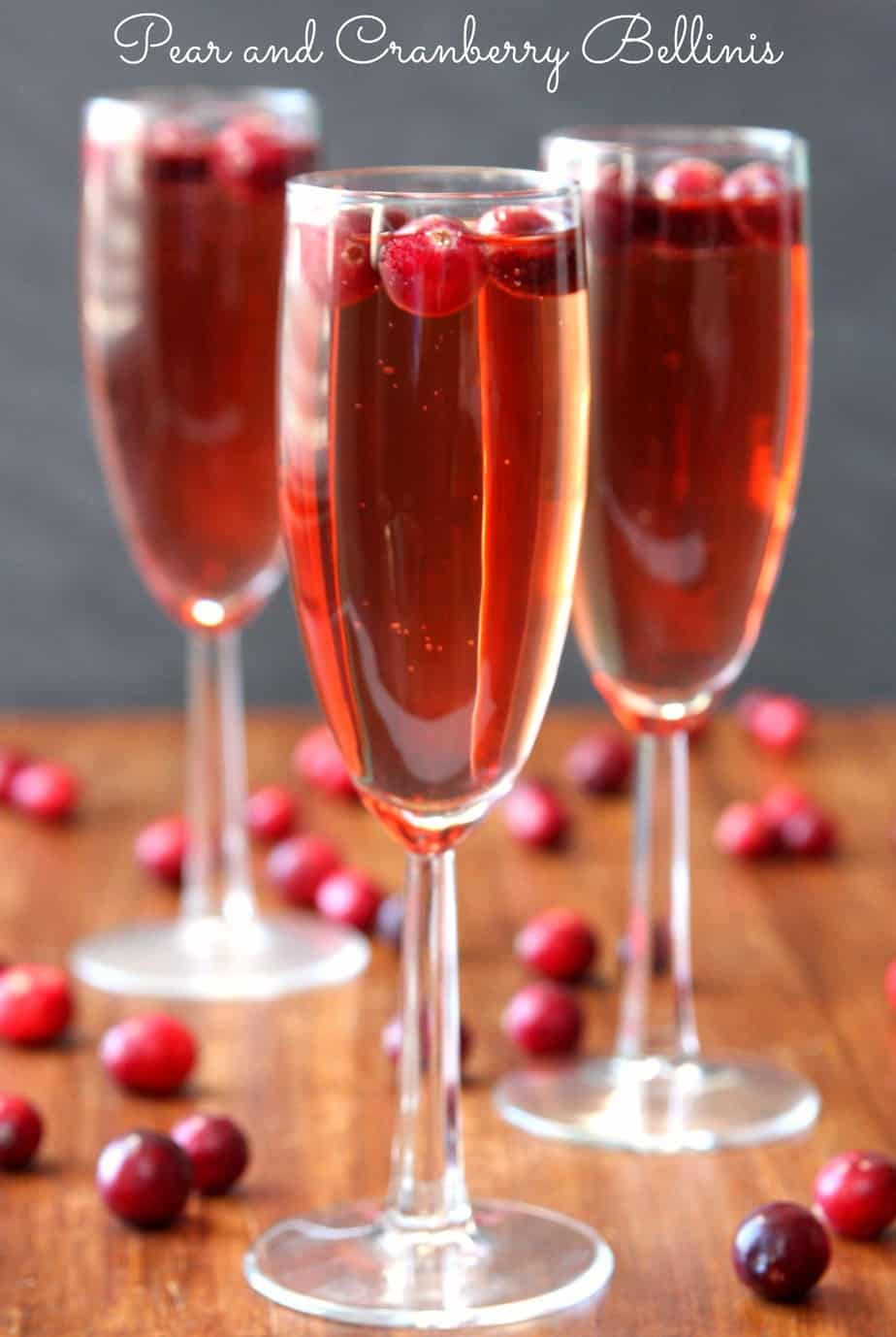 Pear and Cranberry Bellinis - Happy-Go-Lucky