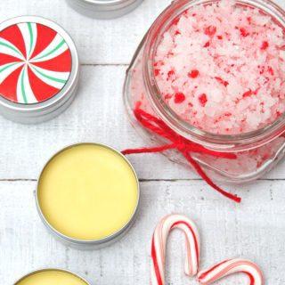 Homemade Peppermint Lip Balm & Hand Scrub