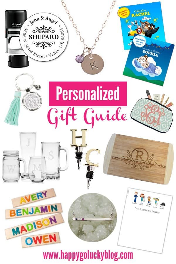 gift guide personalized gift ideas happy go lucky
