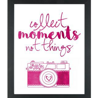 Collect Moments Not Things {Free Printable}