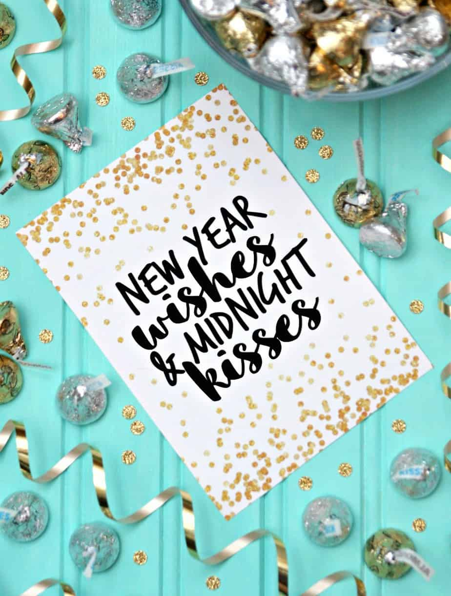 New Year Wishes - Free Printable