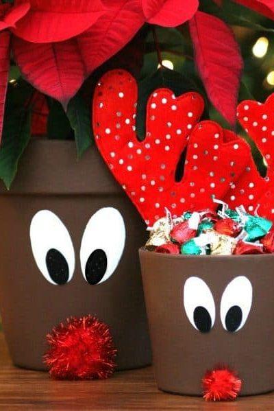 Reindeer Flower Pots