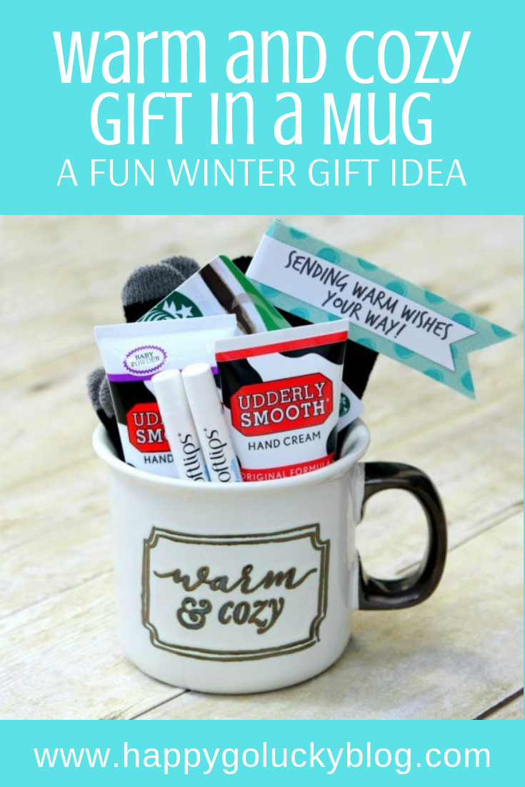 Send warm wishes to all your favorite people this winter with this Warm & Cozy Gift in a Mug.