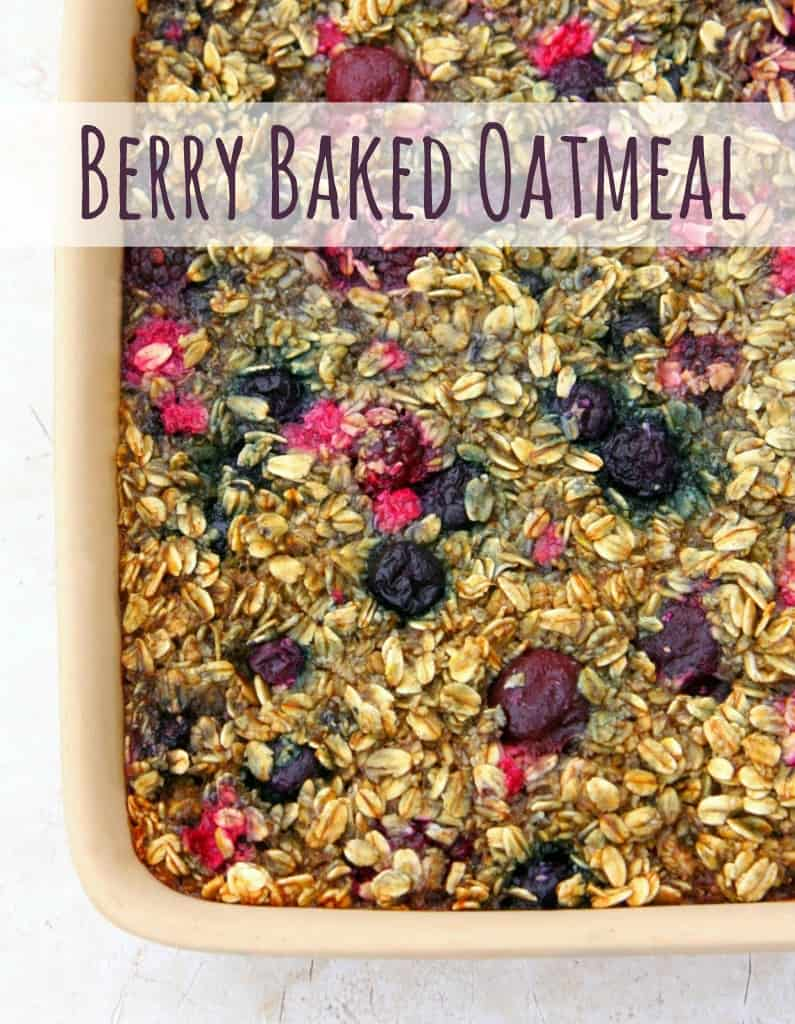 Make-Ahead Breakfast Recipes - Berry Baked Oatmeal